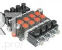 Гидрораспределитель 80 л/мин 3 секционный с электрическим управлением на 12 , 24 Вольта