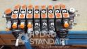 Гидрораспределитель 7 секционный с джойстиками и антишоковыми клапанами комплект РС70 Badestnost