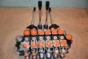 Гидрораспределитель 6 секций 100 л/мин с 2 джойстиками и антишоковыми клапанами