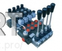 Гидрораспределитель 4 секции с гидроэлектроуправлением 40 л/мин на 12 и 24 Вольта
