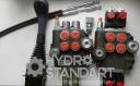 Гидрораспределитель с электро и тросовым управлением на джойстике с кнопками